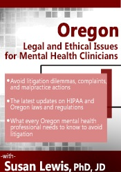 Image ofOregon Legal and Ethical Issues for Mental Health Clinicians