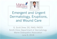 Image of Emergent and Urgent Dermatology, Eruptions and Wound Care