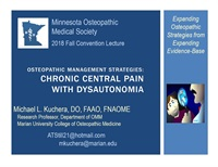 Image of Osteopathic Management Strategies: Chronic Central Pain with Dysautono
