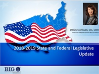 Image of 2018-2019 State and Federal Legislative Update