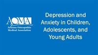 Image of Depression and Anxiety in Children, Adolescents, and Young Adults