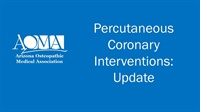 Image of Percutaneous Coronary Interventions: Update