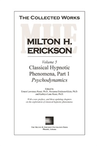 Image ofThe Collected Works of Milton H. Erickson: Volume 05: Classical Hypnot