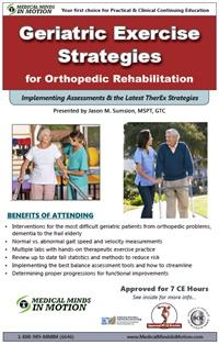 Image ofGeriatric Exercise Strategies for Orthopedic Rehabilitation
