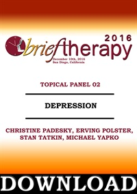 Image of BT16 Topical Panel 2 - Depression - Christine Padesky, Erving Polster,