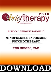 Image of BT16 Clinical Demonstration 10 - Mindfulness Informed Psychotherapy -