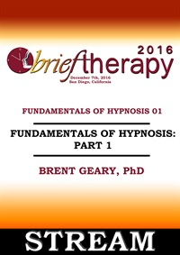 Image ofBT16 Fundamentals of Hypnosis Part 01 - Brent Geary, PhD