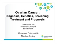 Image of Overian Cancer: Diagnosis, Genetics, Screening, Treatment, and Prognos