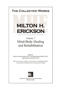 Image of The Collected Works of Milton H. Erickson: Volume 07 - Hardcover: Mind