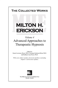 Image ofThe Collected Works of Milton H. Erickson: Volume 04: Advanced Approac