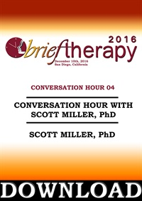 Image of BT16 Conversation Hour 4 - Scott Miller, PhD (Audio Only)