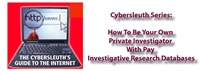 Image of Cybersleuth Investigative Series: How To Be Your Own Private Investiga
