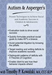 Image ofAutism & Asperger's: Proven Techniques to Achieve Social and Academic