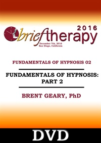 Image ofBT16 Fundamentals of Hypnosis Part 02 - Brent Geary, PhD