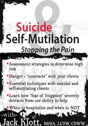 Image ofSuicide & Self-Mutilation: Stopping the Pain