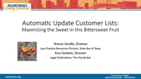 Image of Automatic Update Customer Lists: Maximizing the Sweet in this Bittersw