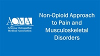 Image of Non-Opioid Approach to Pain and Musculoskeletal Disorders