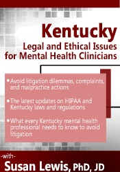 Image of Kentucky Legal & Ethical Issues for Mental Health Clinicians