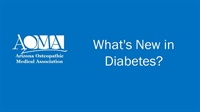 Image of What's New in Diabetes?