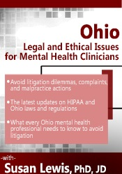 Image of Ohio Legal and Ethical Issues for Mental Health Clinicians