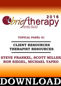 Image ofBT16 Topical Panel 1 - Client Resources Therapist Resources - Steve Fr