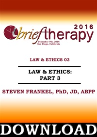 "Image of BT16 Law and Ethics ""What goes around…"", Part 03 - Steven Frankel, PhD"