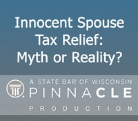 Image of CA2903 Innocent Spouse Tax Relief: Myth or Reality?
