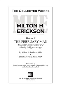 Image ofThe Collected Works of Milton H. Erickson: Volume 09: The February Man