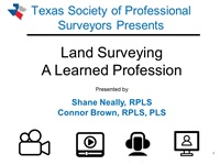 Image of#1434 Land Surveying, A Learned Profession
