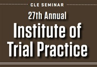 Image of CA2487 27th Annual Institute of Trial Practice