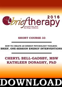 Image of BT16 Short Course 33 - How to Create and Energy Psychology Toolbox: Br